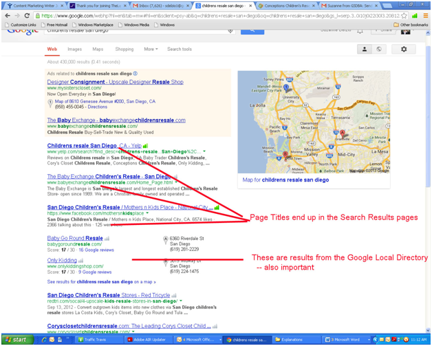 SERP for Smal Business SEO