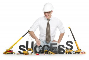 Quality Construction Content holding up success letters