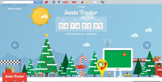 Santa Tracker by Google