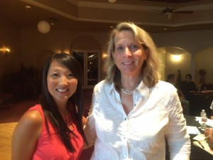 Constant Contact's Corissa & IWC founder Suzanne at SEO Copywriting event