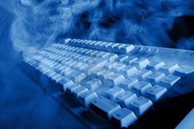 smoking keyboard