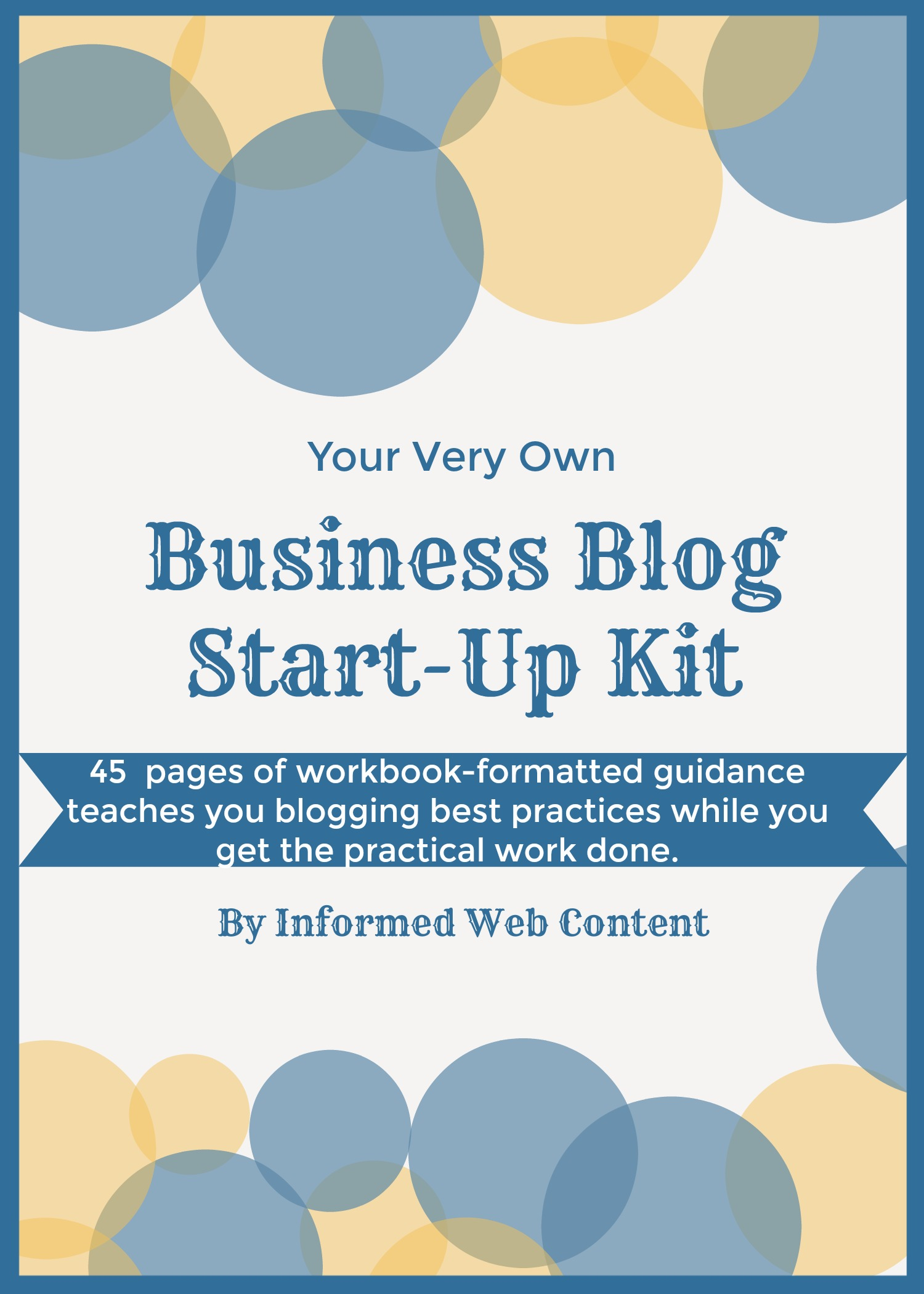 Small Business Blog Start-Up Kit Ebook
