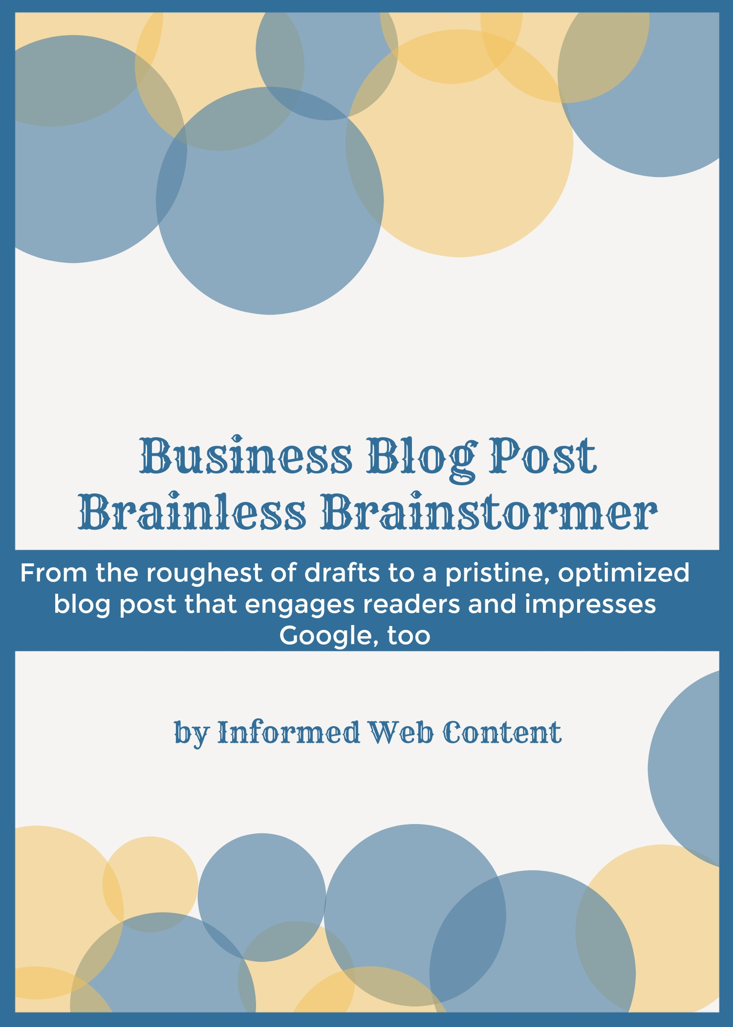 Brainstorm a Small Business Blog Post